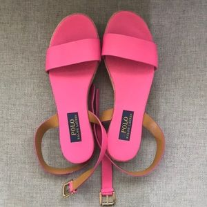 Polo Ralph Lauren hot pink sandals